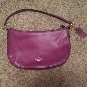 Light Purple Leather Coach Handbag